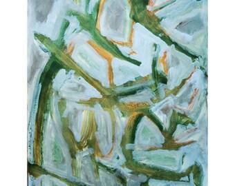 Go Green-2. Giclee Fine Art Print, Abstract  Art, Wall Art, Home Office Decor