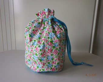 Flower Draw String Bag