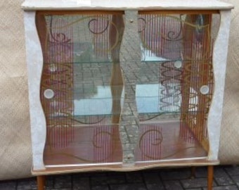 1960's Glass Display Cabinet