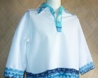 1960's Blue Iolani Hawaiian Shirt
