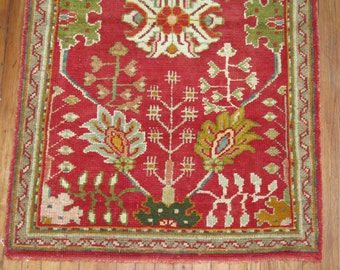 Antique Turkish Oushak Rug Size 3'3''x5' Christmas Colors Authentic & Rare!!