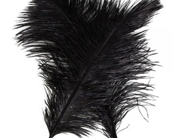 """New 10PCS Quality Natural Ostrich Feathers """"12-14"""" Inch Black....Free Shipping in US!"""