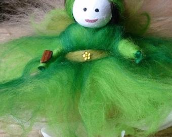 Xylia - of the Forest - wool felt fairy