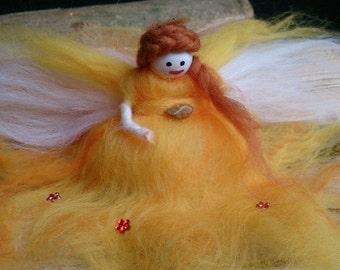 Citrus Sorbet - wool felt fairy