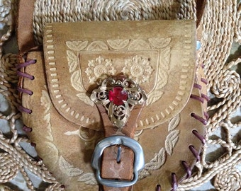 Mini vintage leather bag