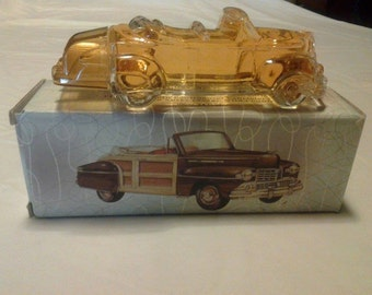 Vintage Avon 1942 Lincoln Continental Cologne Wild Country After Shave Bottle with Box (Full) Collecteable Collectors