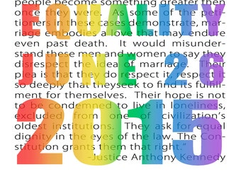 Marriage Equality Decision, Justice Kennedy Quote, Gay Rights