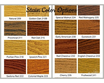 Stain Color Options----This is NOT a listing