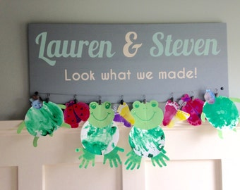Kids look what we made art display sign 30x12