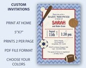 Sports Baby Shower Invitations Playin Ball Sports Baby Shower -Custom PRINTABLE Baby Shower Decorations Party Supplies