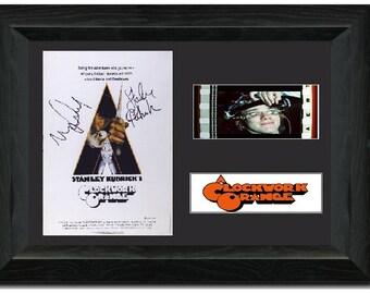 A Clockwork Orange Framed Film Cell 35mm Film Cell Stunning display Signed Stanley Kubrick