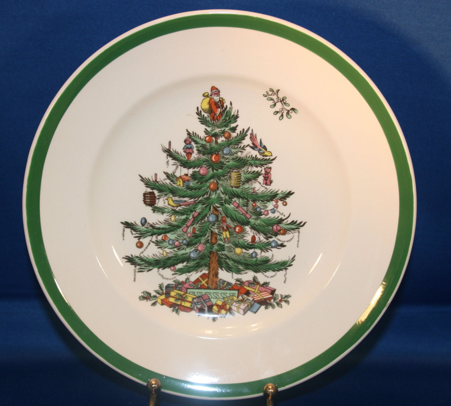 Vintage Spode Christmas Tree Holiday Salad Plate S3324 D