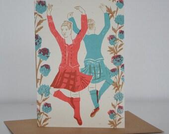 Highland Dancer Greetings Card