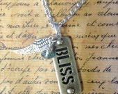 Vintage Jewelry Necklace Silver Bliss Wing