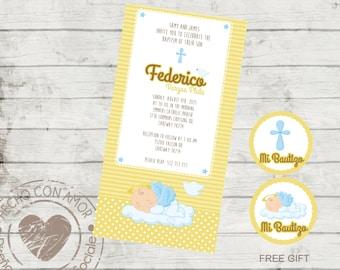 Christening Invite - invitation baby baptism