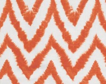 Ready to Ship Orange Diva Chevron Crib Skirt with Pleat