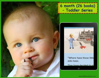26x Personalized Children's Books with Photo- 6 month (26 titles) set of personalized kids eBooks for Toddlers with their photo and name.