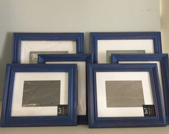 Navy Blue Shabbi Chic Distressed Picture Frames, Collection Two ,Dancing on a Cloud