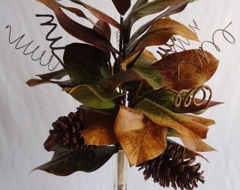 """18"""" Fall Magnolia Leaves Bush"""