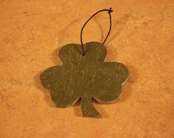 Shamrock Slate Christmas Ornament