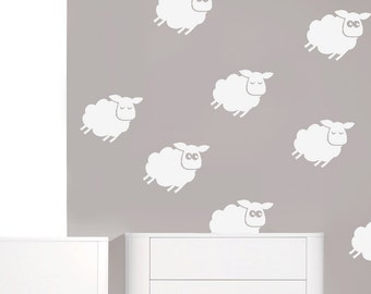 Vinyl Stickers - Vinyl Decal - Vinyl Wall Decals - Vinyl Wall Stickers - Lamb Decals - Lamb Stickers - Lamb Nursery Decor - Baby Shower Gift