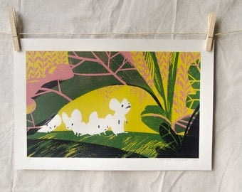 Coterie - hand pulled screen print