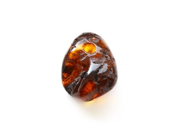 Amber natural stone pendant for jewelry making, Baltic amber pendant, Brown Amber, Baltic amber genuine jewelry - 2553/1