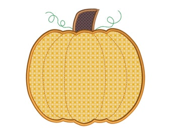 Pumpkin Applique Thanksgiving Embroidery Design Instant Download - 0108