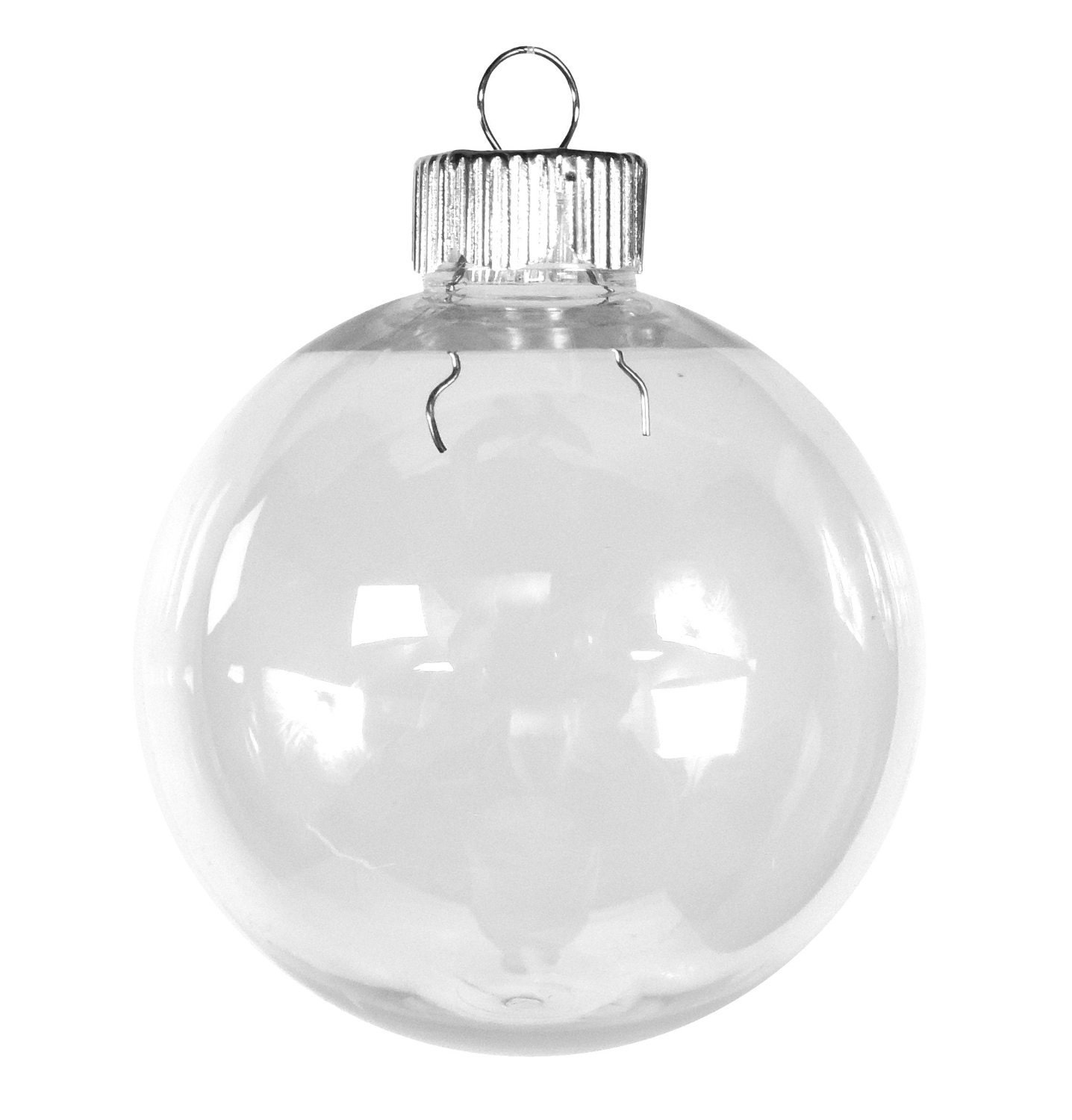 Bulk Case Clear Plastic Shatterproof Ornament 67mm Round x 50
