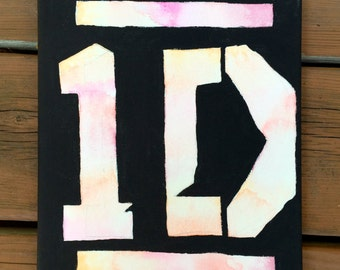 One Direction logo canvas