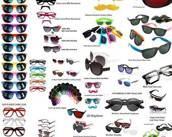 Funny Glasses, Funny Sunglasses, Custom Shades, Sunglasses, Shutter Shades, Pixel Glasses, Funny