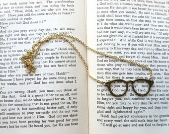 Eyeglass Necklace, Eyeglasses, Gold Eyeglass Necklace, Silver Eyeglass Necklace, Optometry