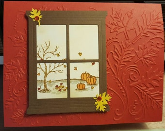 Pretty fall or Thanksgiving card