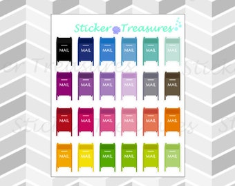 24 Mailboxes [Planner Stickers]