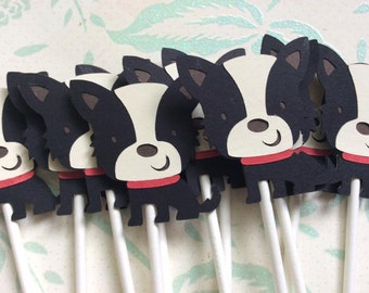 12 Stoney the Dog Cupcake toppers