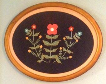 Hand painted scandinavian-inspired botanical painting