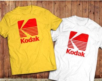 Kodak logo T-Shirt, Photographer, camera Tee, vintage retro Photography