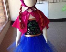 Anna Halloween costume, frozen Halloween, tulle Halloween costume, Anna birthday dress, frozen dress