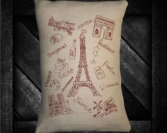 "France  12""x16"" Pillow Set"