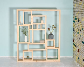 Cabinet wall from recycled lumber SJÉNNE