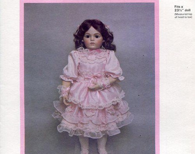 FREE usa SHIP Byron Doll Pattern 1980's 44 Casimir Bru Babette fits 23.5 New Old Store Stock Sewing Pattern