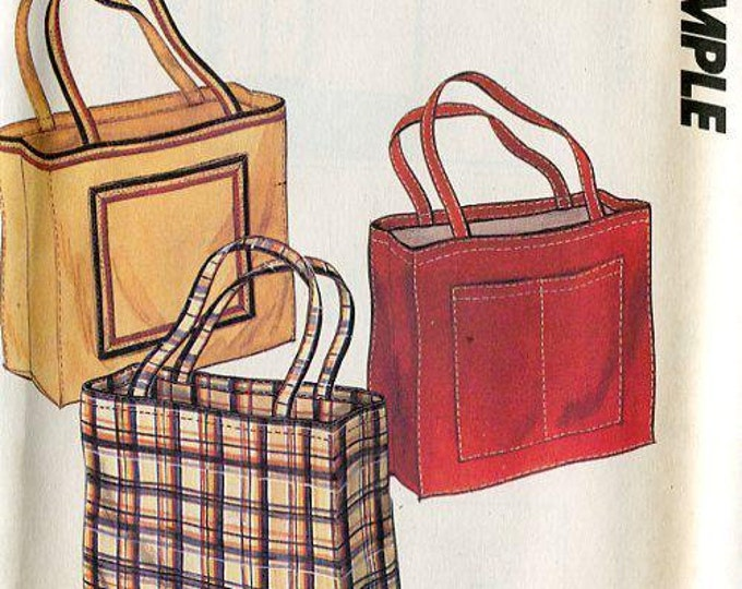 FREE US SHIP Vintage Retro 1980s 80's Sewing Pattern Old Store Stock McCall's Sample Tote Bag Purse Retro 1980's Make a matching Purse!