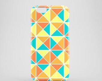 Orange Triangles phone case / Autumn iPhone 7 case / iPhone 6S / iPhone 6 / iPhone se / Samsung Galaxy S7 / Galaxy S6