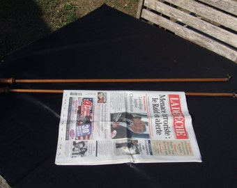 Two wooden Newspaper holder stick