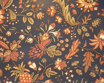 Motif Vintage Wallpaper French Country Black Burgundy