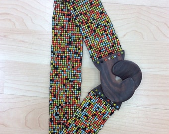 Multi Color belt bean designed wooden