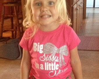 Big Sister shirt, girl shirt