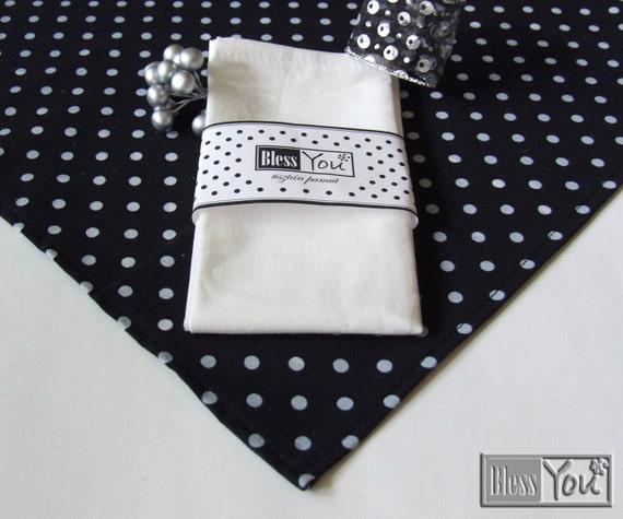 Items similar to black polka dot tablecloth cotton for Black polka dot tablecloth