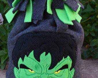 Angry Green Guy Fleece Hat