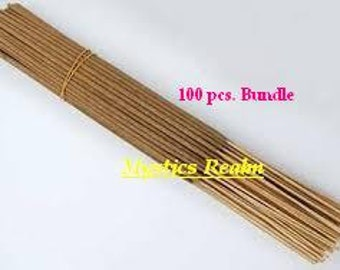 "Unscented Incense Sticks ~ 100 pcs per bundle Incense Sticks ~ 11"" Incense Sticks Unscented ~ Wholesale Unscented Incense ~ Mystics Realm"